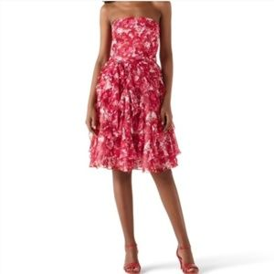 White House Black Market Pink Ruffle Dress